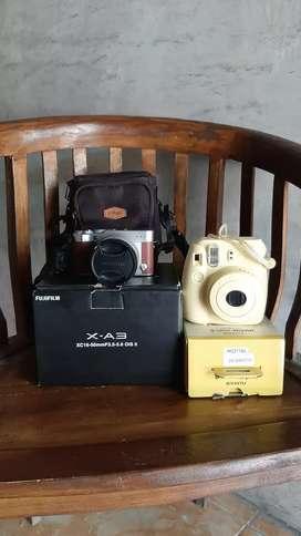 Fujifilm xa3 dan instax mini 8