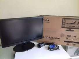 Monitor LG LED 19 Inch HD baru garansi