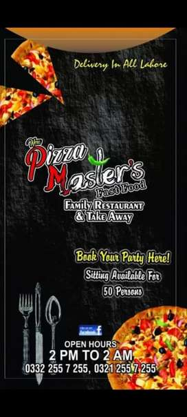 Pizza masters samnabad need order taker / cashier & delivery boy