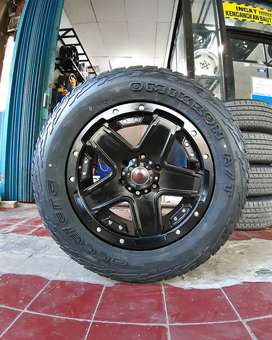 Velg Mobil R18 HSR NDUGA + Ban 285/60 R18 A/T untuk Fortuner dll