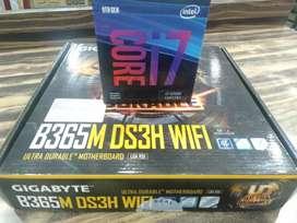 i7 9th gen cpu 9700f + Gigabyte gaming B365ds3h wifi bord 3y  warranty