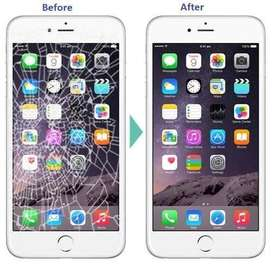 All brand Mobile glass changing , display changing at best price