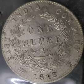 Rare old Indian coin of 1842