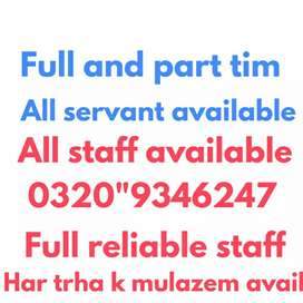 Staff available Domestic office Factory hostal all staff maid cook etc