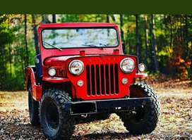 Classic Red painted jeep