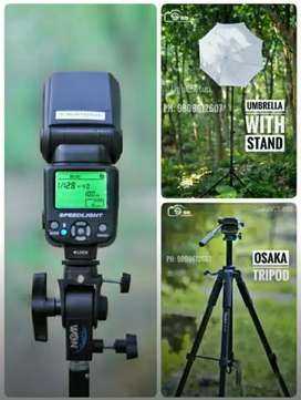 Flash light , Tripod , light Stand For Rent