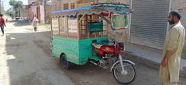 Loader Rickshaw used for selling Items.