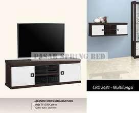 FreOk Meja Tv Rak Tv Minimalis Lemari Bufet Buffet Pendek TV CRD 2681