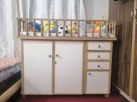 Baby sleeping cot, with sufficient storage cupboard