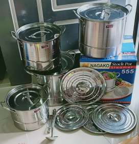Stock pot 1 set merk nagako 555