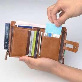 Dompet pria wanita/Dompet Kulit asli Pria/Dompet kartu stnk import ID8