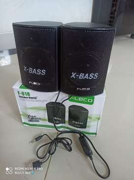 Speaker Laptop Komputer USB Fleco F-018 Suara X - Bass