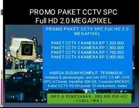 PROMO PAKET CCTV SPC FULL HD 2MP GRATIS PASANG AREA JOGJA
