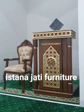 Mimbar masjid khutbah ceramah masjid tersedia siap kirim