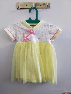 Dress anak kimono kuning