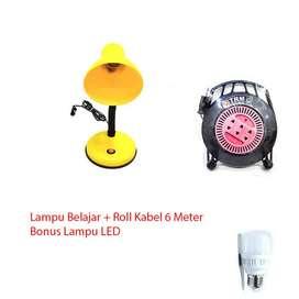 Lampu Belajar + Roll Kabel + Lampu Led Paket Spesial