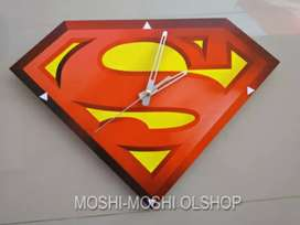 Jam Dinding Superman super jumbo