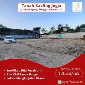 Jual Tanah Kavling Minggir Sleman Murah Mangku Jalan Utama SHM