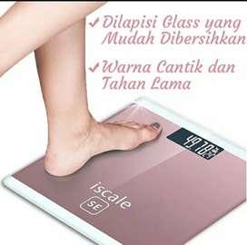 Timbangan badan iscale glass berat maksimal 180 kg