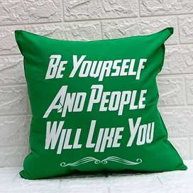 """Sarung Bantal Sofa 40x40 New Motif """"Be Yourself And People will Like Y"""