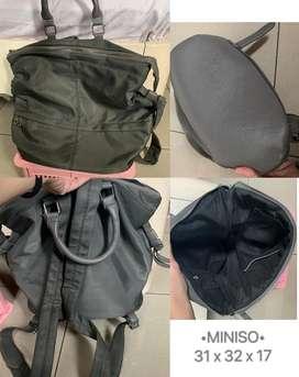 Tas ransel dan handbag miniso