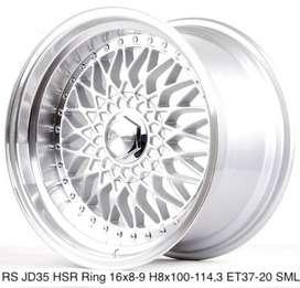 velg racing model BBS RS JD35 HSR R16X8-9 H8X100-114,3 ET37-20 SML