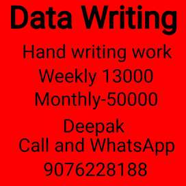 Home based part time job weekly 12,000