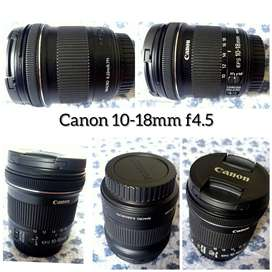 Canon 10-18mm f4.5 lens. Very less used