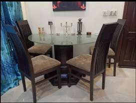 Pure Sheesham Dining table with 6 chairs