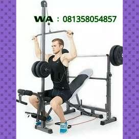 Alat fitnes murah benc press pull down bisa cod