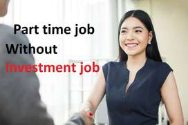 Without Investment!! Part time home base job! Data entry job