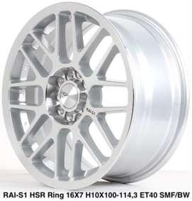 jual velg murah RAI-S1 HSR R16X7 H10X100-114,3 ET40 SMF