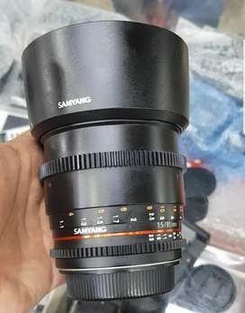 Samyang 85MM f/1.5 lens available japan import condition 10/10