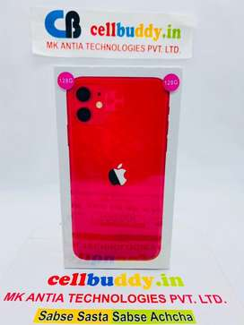 Apple iPhone 11 128gb Red & All Other Colours | SealedPacked | COD |