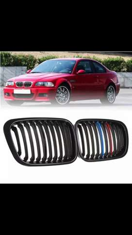 Bmw E46 99 model onwards 3 series M style matte black front show grill
