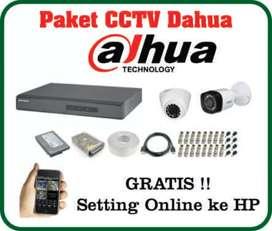 Paket CCTV DAHUA 2mp 4 kamera full HD LENGKAP DAN TERMURAH
