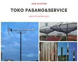 Teknisi pasang antena tv//parabola tigaraksa