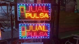 Lampu Promosi/Lampu Tulisan Jual Pulsa/Pulsa Token