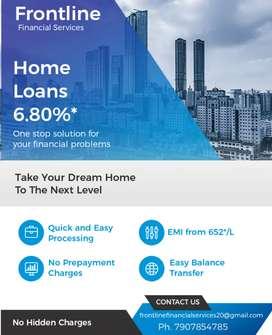Home Loans starts at 6.80%