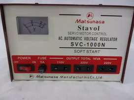 MATSUNAGA Stavol 1000 watt Servo Motor/Soft Start/Regulator/Stabilizer