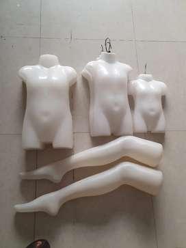 Kids Half Body Shape White Mannequin
