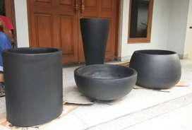 Pot Taman Unik handmade Terazzo Custome Mewah 1 Set