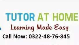 Experienced and Qualified Home Tutors are available in Wah Cantt