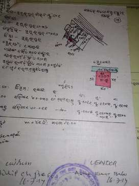 General plot having gharabari and 700mt from dhanupali Cuttack road