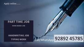 Handwriting job /part time job/ work from home
