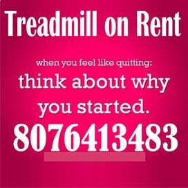 Treadmill on rent hire in crossing republik