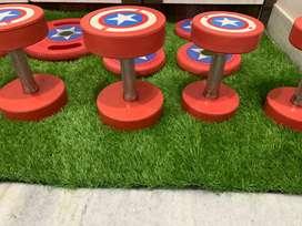 Captain America dumbells
