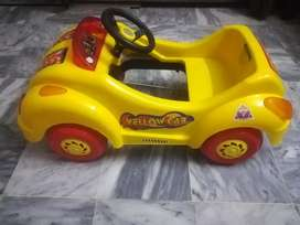 Yellow Cab Paddle Kids Car for 1 to 7 year Kid