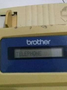 Brother personal Fax model 202 hidup dan nyala normal kertas thermal
