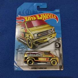 Hotwheels Custom '77 Dodge Van Super Chrome Gold Hot wheels